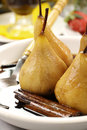 Poached Pears And Cinnamon Stock Photography