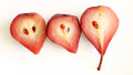 Poached pears delicious in red wine Royalty Free Stock Photography