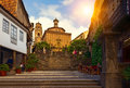 Poble espanyol traditional architectures in barcelona spain Royalty Free Stock Photo