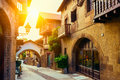 Poble espanyol traditional architectures in barcelona spain Royalty Free Stock Photography
