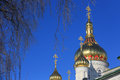 Pochaev's Lavra Cupola at nice winter day Royalty Free Stock Photo