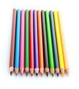 Poche matite di colore isolate Fotografie Stock