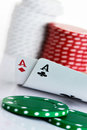 Pocket Aces Stock Image