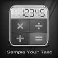 Pocket calculator on black background vector illustration Royalty Free Stock Image