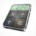 Pocket calculator on white Royalty Free Stock Photo