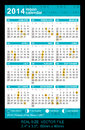 Pocket calendar with phases of the moon gmt vector start on sunday vector size x mm x mm Stock Photo