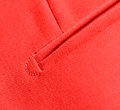 Pocket detail of stitching a of italian haute couture Royalty Free Stock Photography