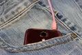 Pocket jeans Royalty Free Stock Photo