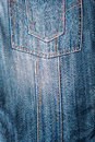 Pocket and seams on blue jeans Stock Photo
