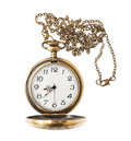 Pocket watch with chai isolated on white background Stock Photography