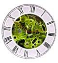 Pocket watch fractal Royalty Free Stock Photo