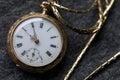 beautiful vintage golden pocket watch