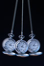 Pocket watch swinging on a chain to hypnotise Royalty Free Stock Photo