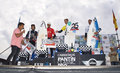 Podium of the 25th edition of Pantin Classic 2012 Royalty Free Stock Photography