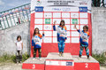 Podium de filles Photos libres de droits