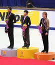 Podium - Men Figure Skating Royalty Free Stock Photo