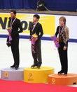 Podium - Men Figure Skating Royalty Free Stock Photo