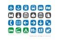 Podróży & dziedzictwa rodzinna ikona collection-2 Zdjęcie Stock