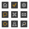 Podstawowy guzików popielata ikon serii sieć Zdjęcia Stock