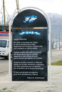 Poem to Islas Malvinas in Ushuaia Stock Images