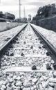 Poetic unusual railway in fast movement