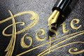 Poetry album german with fountain pen Royalty Free Stock Image