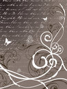 Poetry floral butterfly swirl Stock Photography
