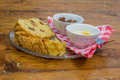 Poffert traditional dutch cake from groningen holland Stock Images