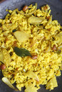 Poha - A breakfast snack made of beaten rice Royalty Free Stock Photo