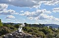 Pohutu geyser new zeland is a in the whakarewarewa thermal valley rotorua Stock Photography