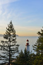 Point Atkinson Lighthouse at sunrise Royalty Free Stock Photo