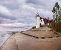 Point betsie lighthouse on lake michigan michigan s lower peninsula Stock Photo