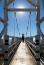Point bonita lighthouse in marin california suspension bridge to Royalty Free Stock Photo