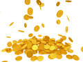 Point coins falling from the sky Royalty Free Stock Photography