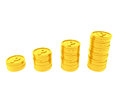 Point coins image of stacked Royalty Free Stock Images