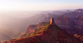 Point imperial at sunrise north rim of grand canyon national park az Royalty Free Stock Photography