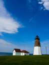 Point Judith Lighthouse. Royalty Free Stock Photo