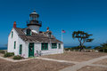 Point pinos historic lighthouse in monterey california Royalty Free Stock Photography