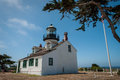 Point pinos historic lighthouse in monterey california Royalty Free Stock Images