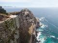 Point rocheux de cap de rivage Photographie stock