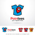 Point Tees Clothing Logo Template Design Vector