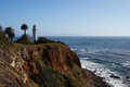 Point vicente lighthouse on california s palos verdes peninsula Royalty Free Stock Photography