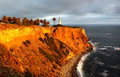 Point vicente lighthouse in california usa is united states palos verdes north of los angeles harbor the is Stock Image