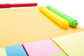 Point of view of blank set of sticky notes Royalty Free Stock Photo