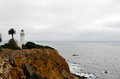 Point vincente lighthouse on the pacific ocean Stock Photos