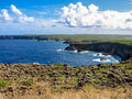 Pointe de la grande vigie guadeloupe the is located at the north of terre in french antilles caribbean the high cliffs of Stock Photo