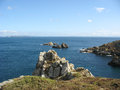 Pointe du van and sea coast in brittany france Royalty Free Stock Image