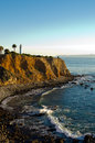 Pointe vincente lighthouse sitting on a bluff overlooking the pacific ocean Stock Photography
