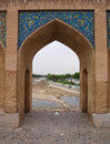 Pointed arch on pol allah verdi khan bridge in isfahan iran Stock Photos