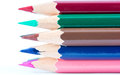 Pointed color pencils Royalty Free Stock Photos
